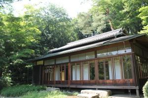 Casa estilo tradicional dentro do Yoyogi Park